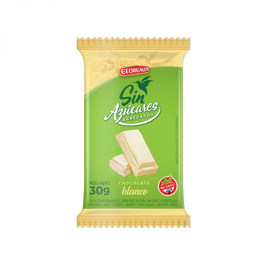 Chocolate sin azúcar Blanco