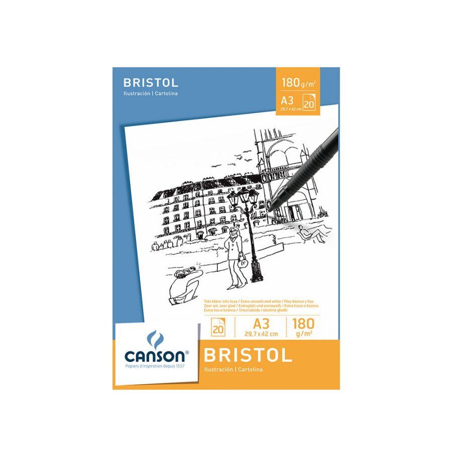 Bloc Dibujo Bristol Canson A3