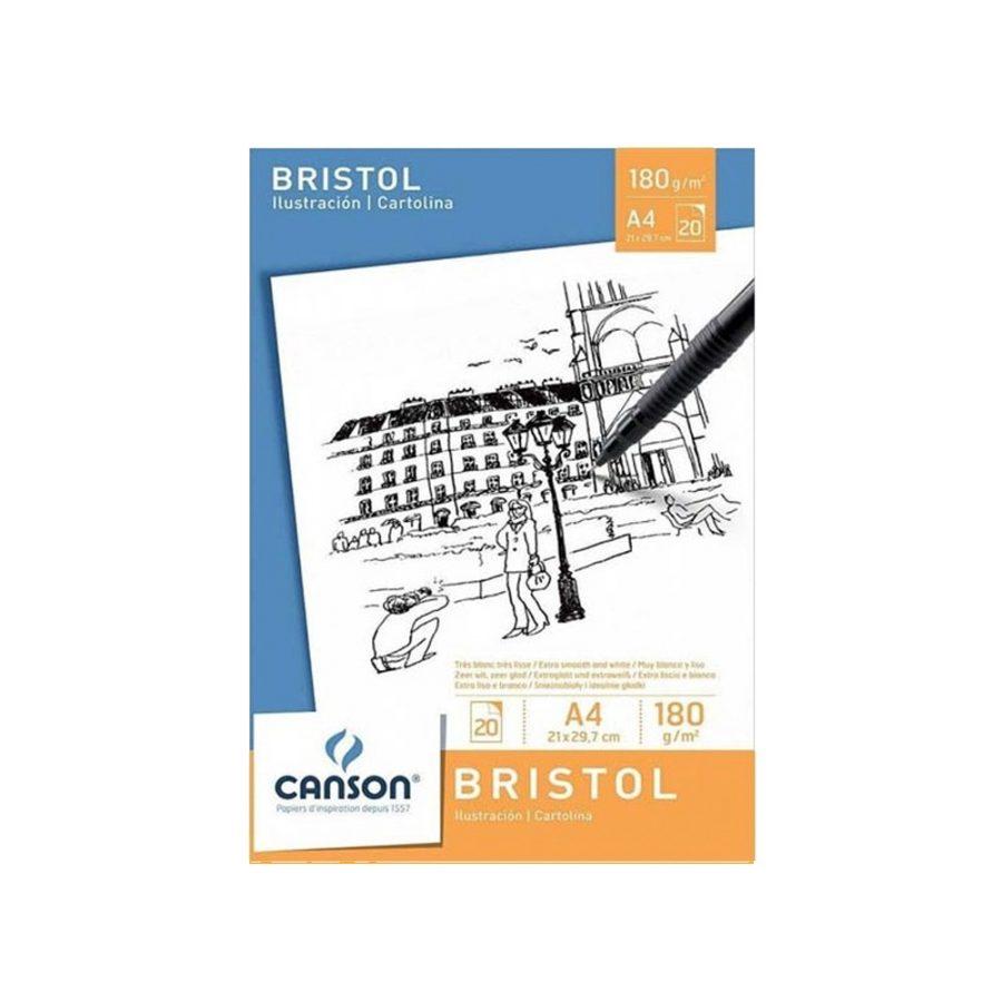 Bloc Dibujo Bristol Canson A4