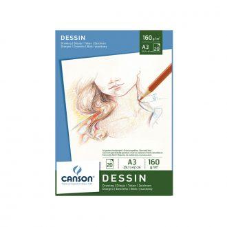 Bloc Dibujo Dessin Canson A3