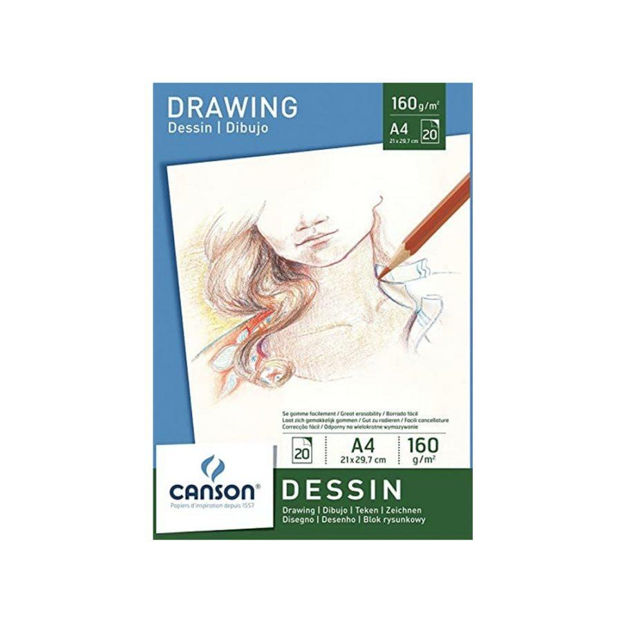 Bloc Dibujo Dessin Canson A4
