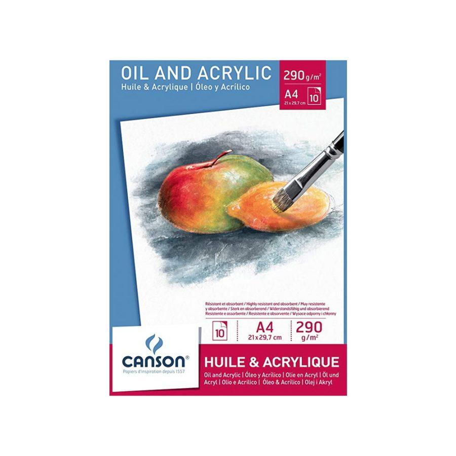 Bloc Óleo y Acrílico Canson A4