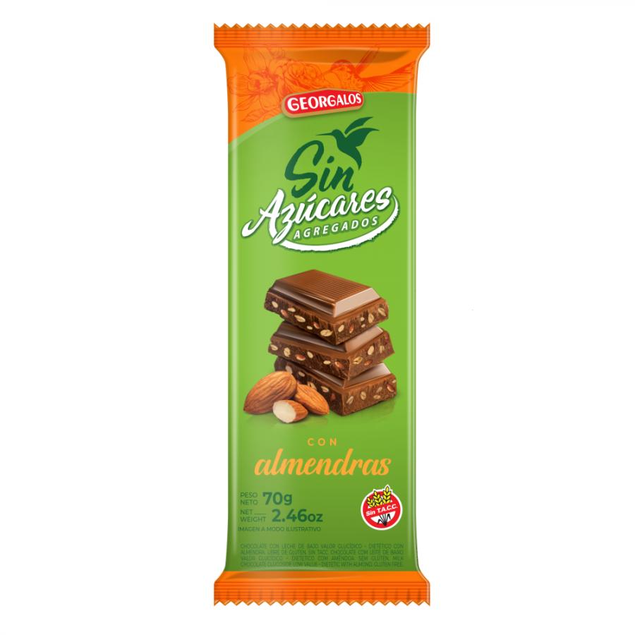 Chocolate con almendra sin azúcar